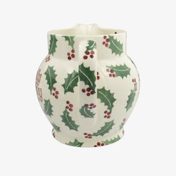 Personalised Christmas Holly 3 Pint Jug