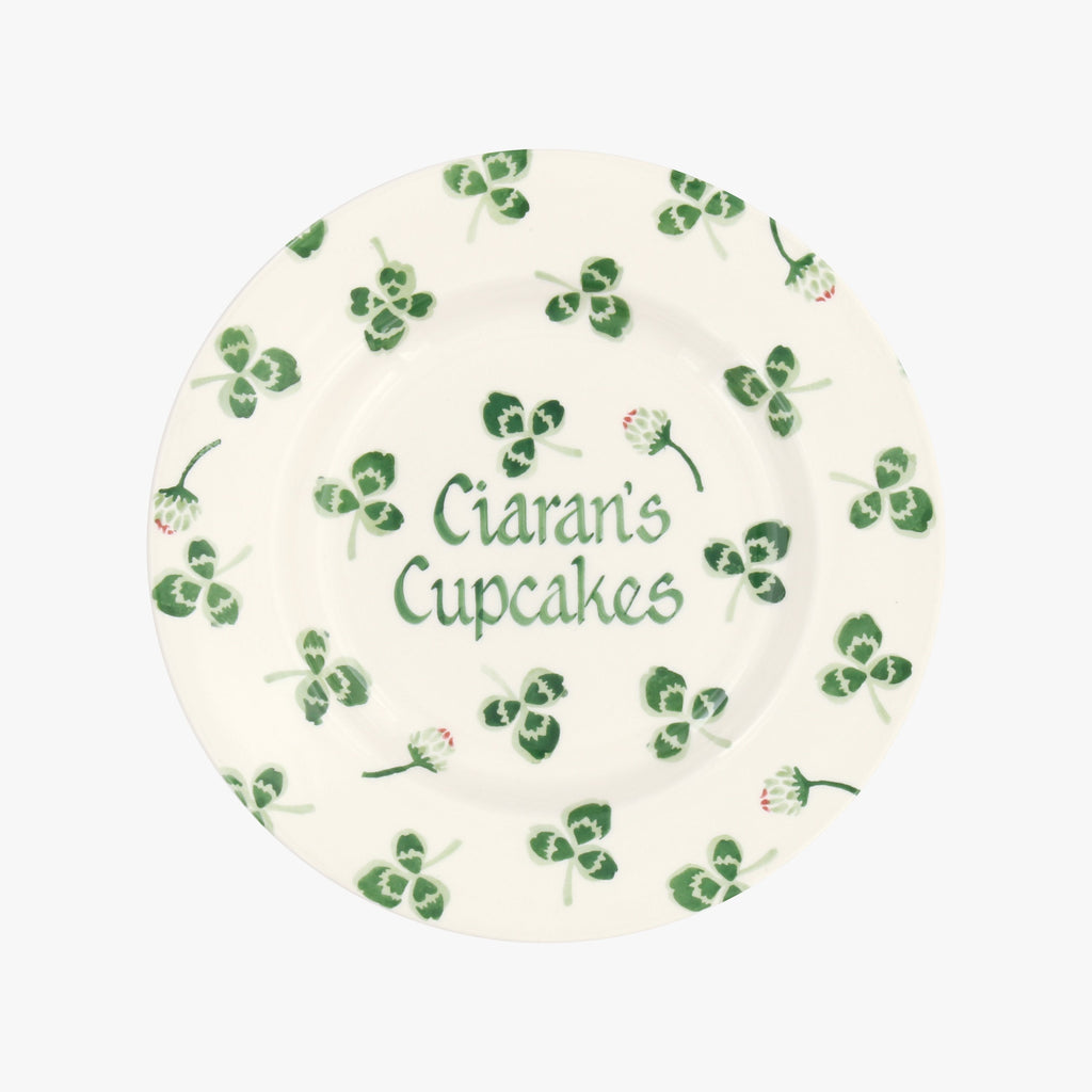 "Personalised Clover Flower 8 1/2"" Plate"