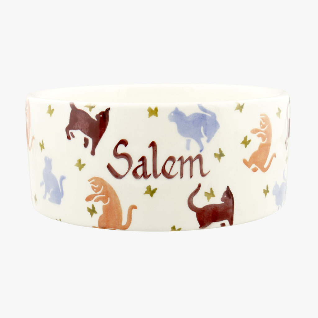 Personalised Cats Large Pet Bowl