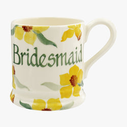 Personalised Daffodils 1/2 Pint Mug
