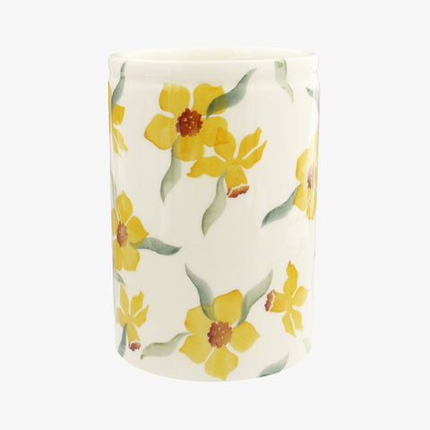 Personalised Daffodils Medium Vase