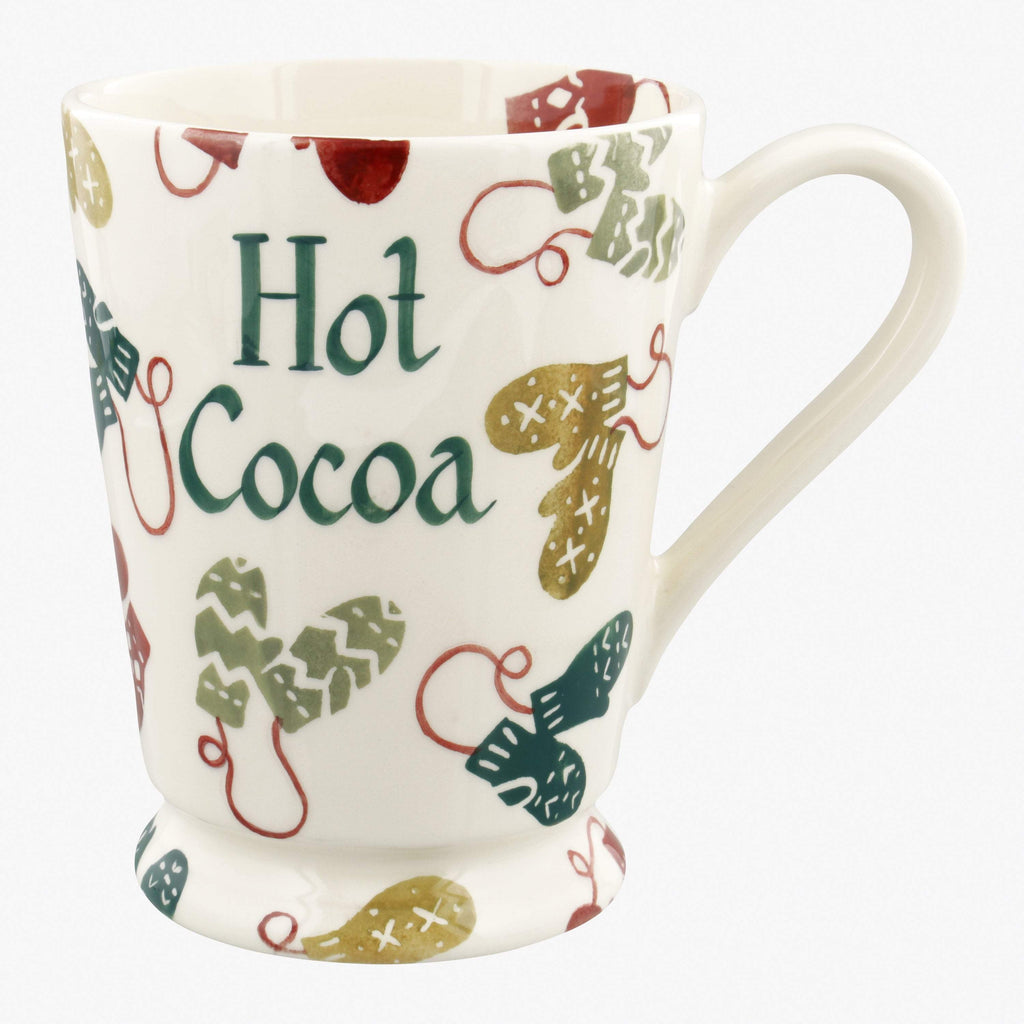 Personalised Christmas Mittens Cocoa Mug
