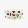 Personalised Polka Pussycat Small Pet Bowl