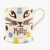 Personalised Polka Pussycat 1/2 Pint Mug