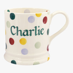 Personalised Polka Dot 1 Pint Mug