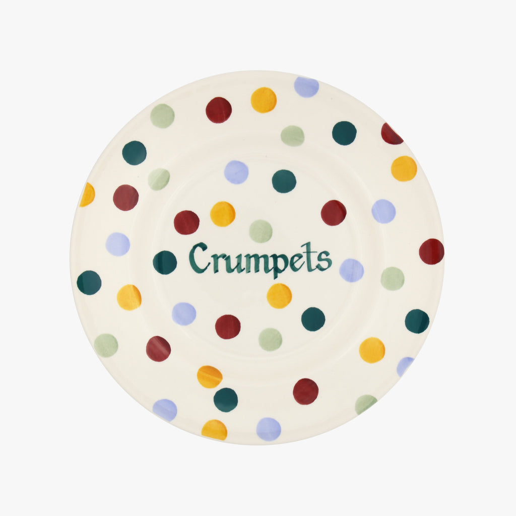 "Personalised Polka Dot 8 1/2"" Plate"