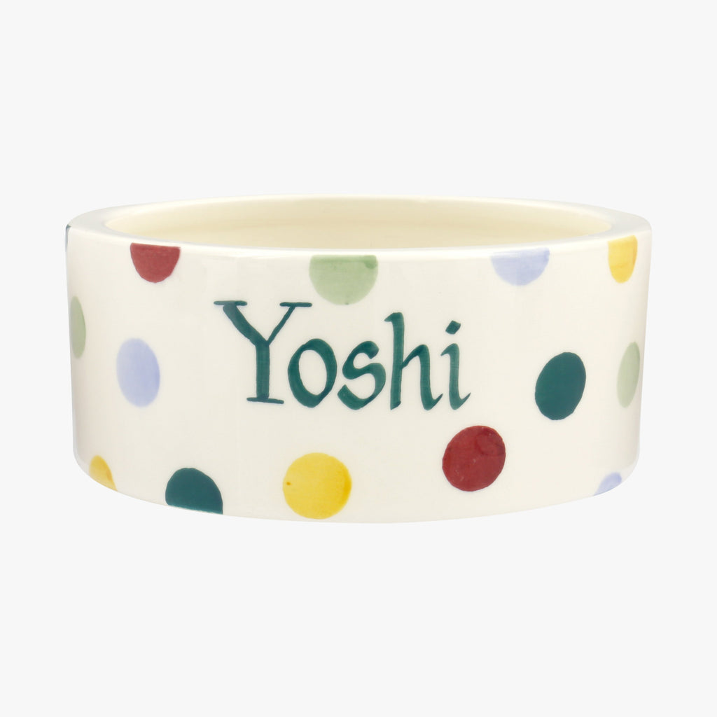 Personalised Polka Dot Small Pet Bowl