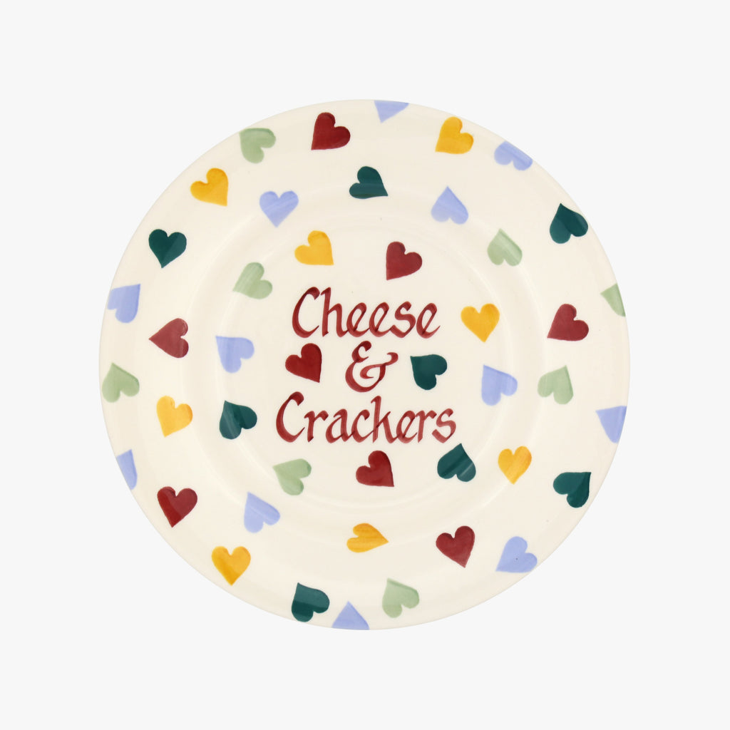"Personalised Polka Hearts 8 1/2"" Plate"