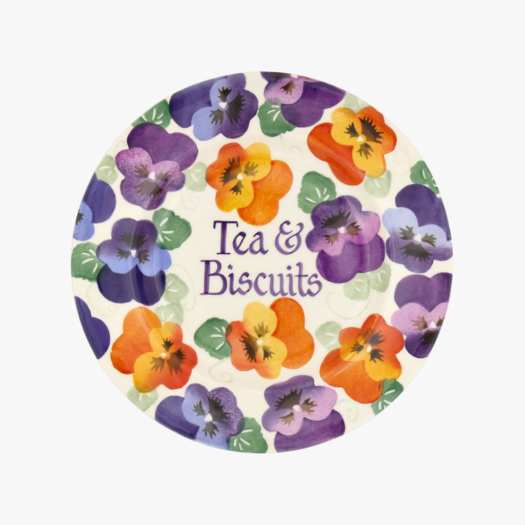 "Personalised Purple Pansy 8 1/2"" Plate"