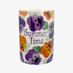 Personalised Purple Pansy Medium Vase