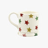 Personalised Red, Green & Gold Star Tiny Mug