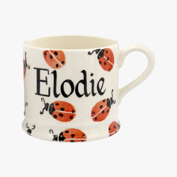 Personalised Red Ladybird Small Mug
