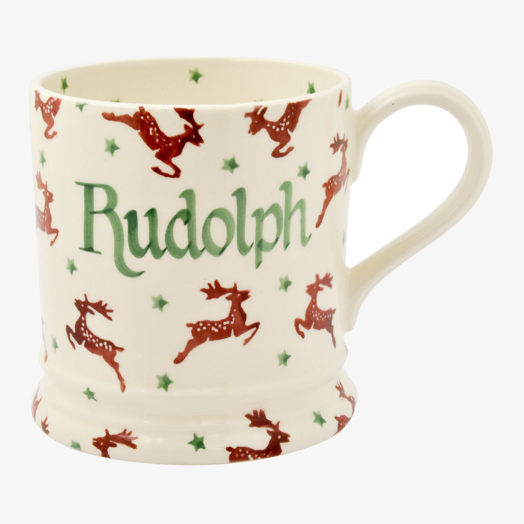 Personalised Reindeer 1 Pint Mug