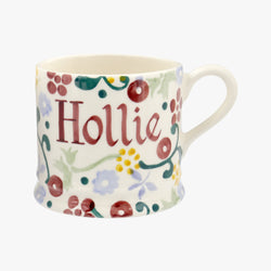 Personalised Spring Floral Small Mug