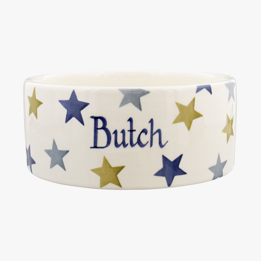 Personalised Stormy Stars Large Pet Bowl