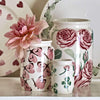 Pink Cabbage White Butterfly Medium Jam Jar