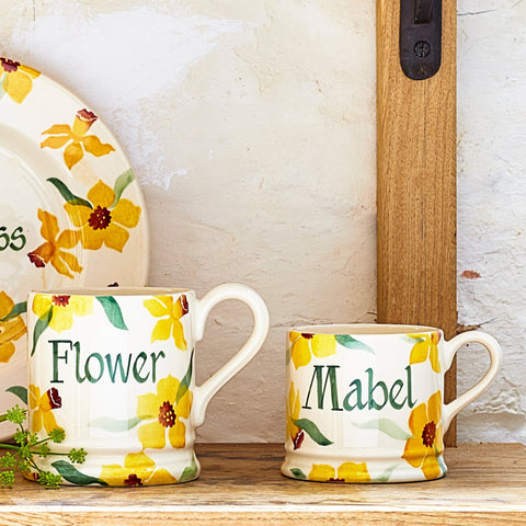 Personalised Daffodils Small Mug