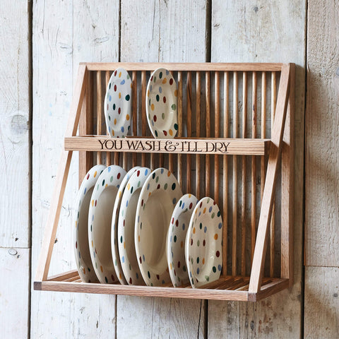 Wooden Plate Rack