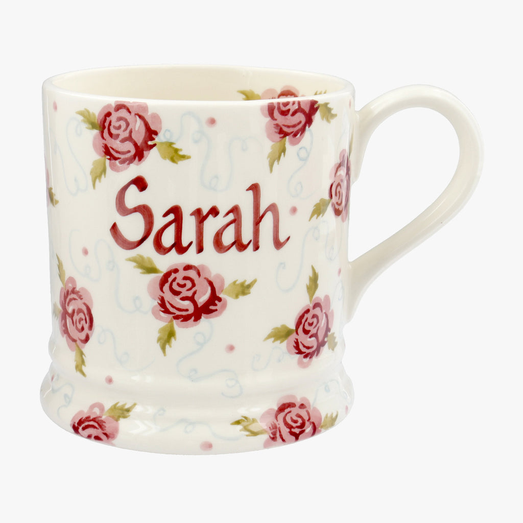 Personalised Tiny Scattered Rose 1 Pint Mug