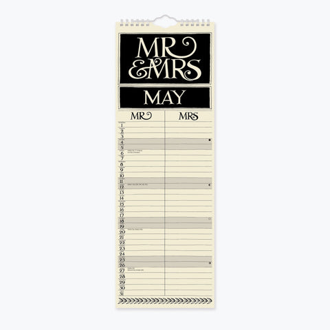 Mr and Mrs 2019 Slim Planner