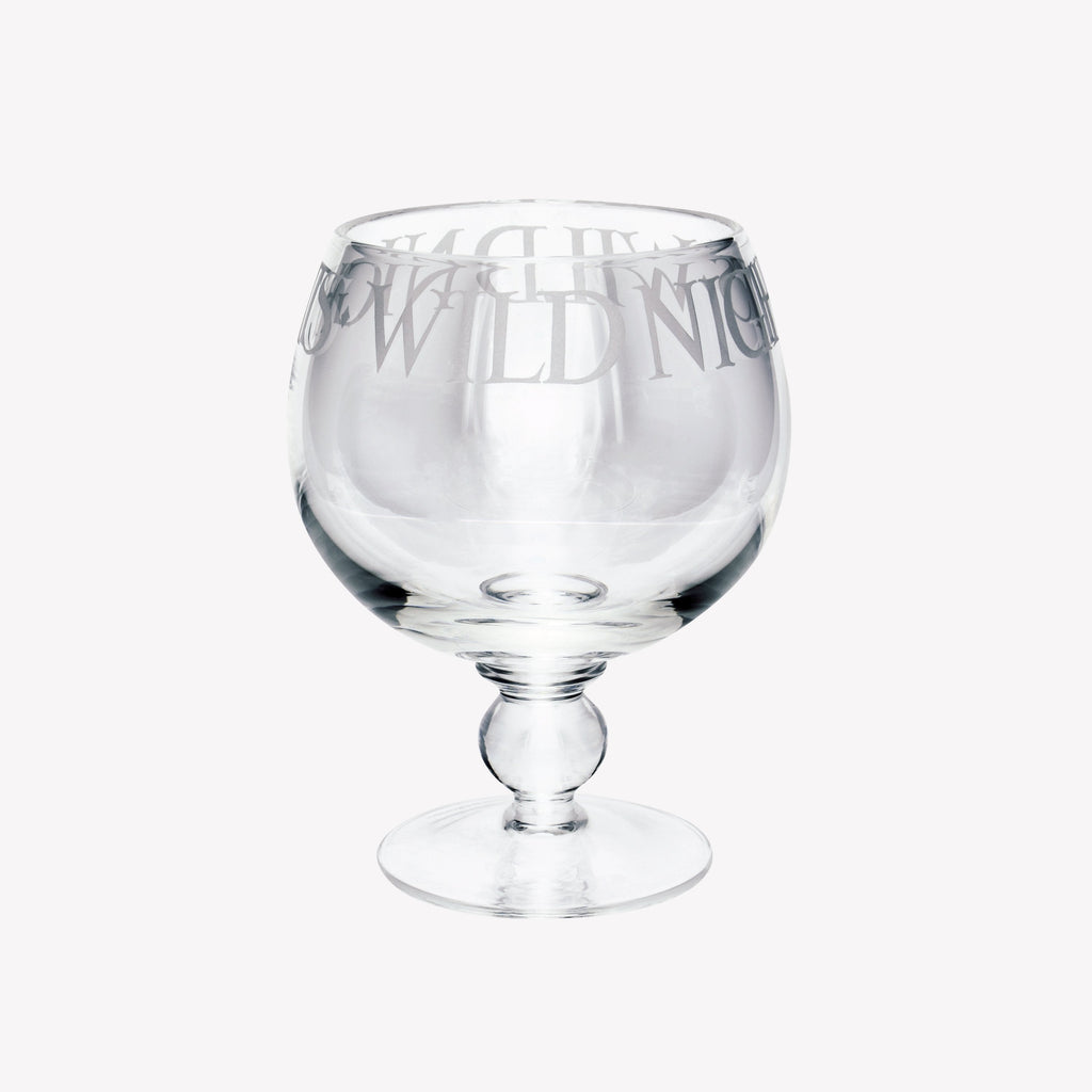 Black Toast Gin Glass