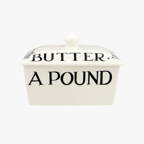 Black Toast Half a Pound Small Butter Dish