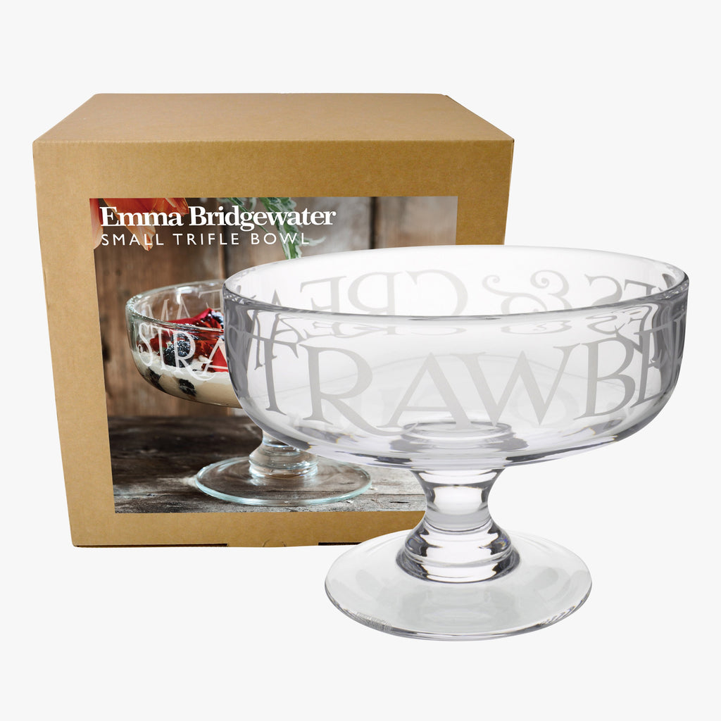 Black Toast Glass Small Trifle Bowl