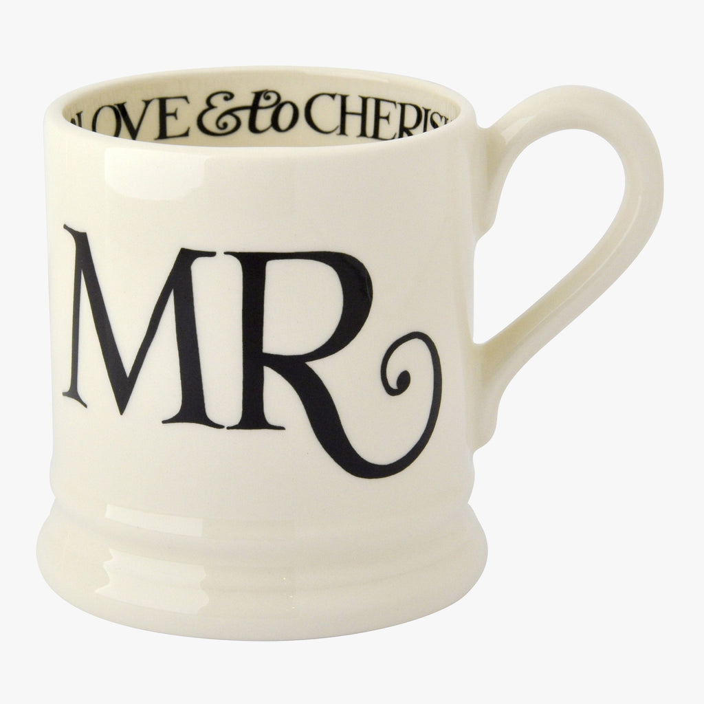 Seconds Black Toast Mr 1/2 Pint Mug