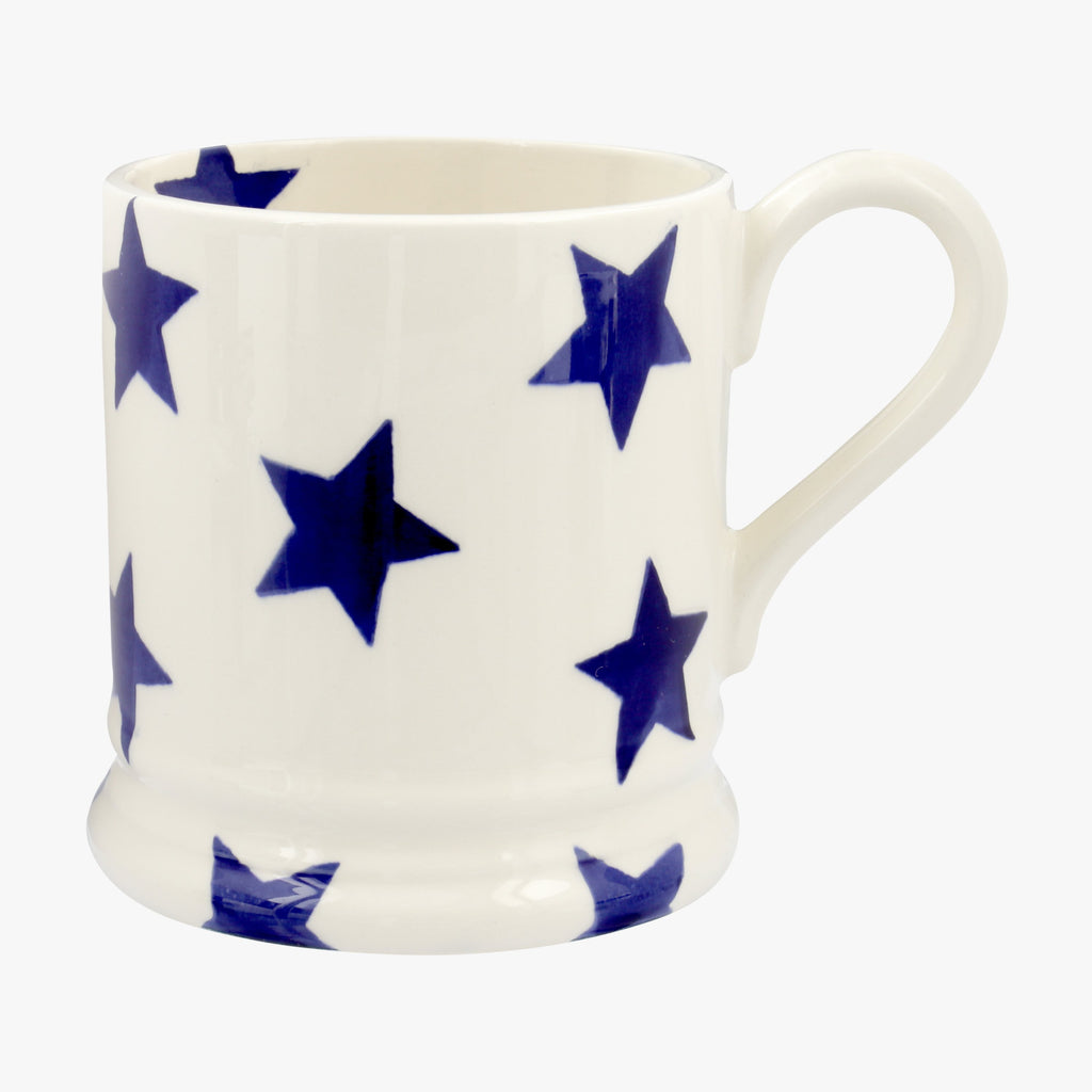 Seconds Blue Star 1/2 Pint Mug