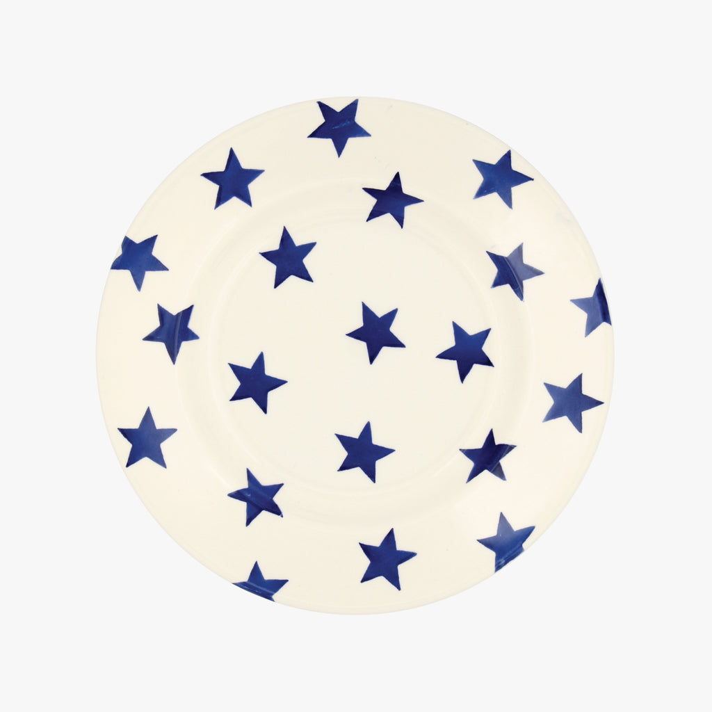 "Seconds Blue Star 8 1/2"" Plate"