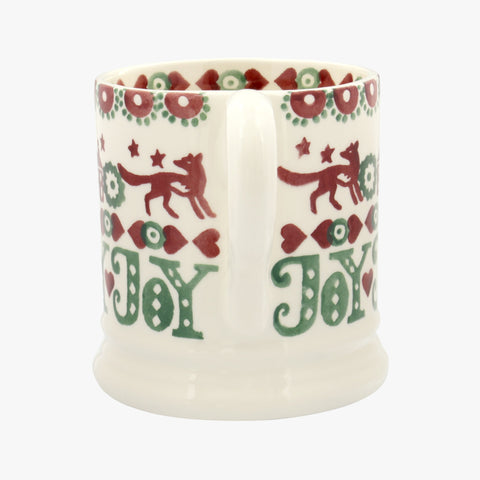 Christmas Joy Red & Green 1/2 Pint Mug