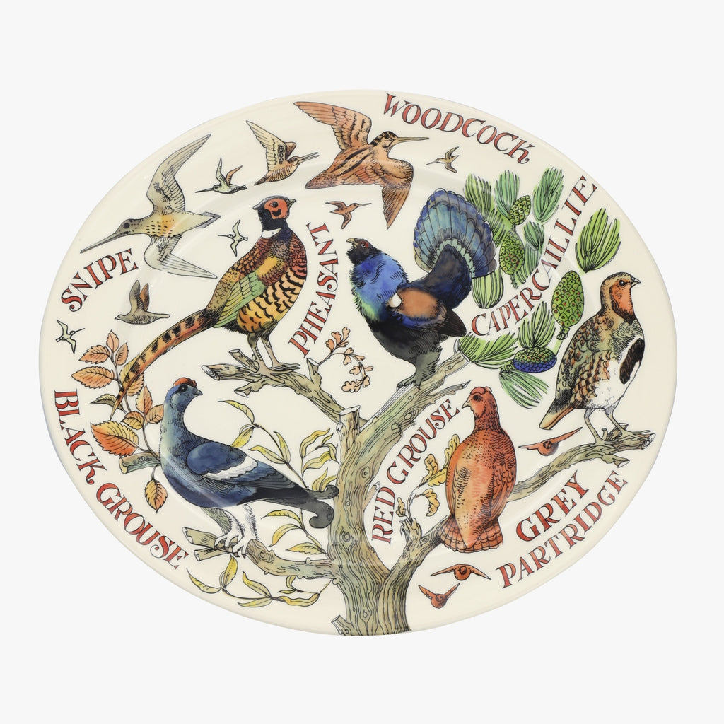 Game Birds Large Oval Platter