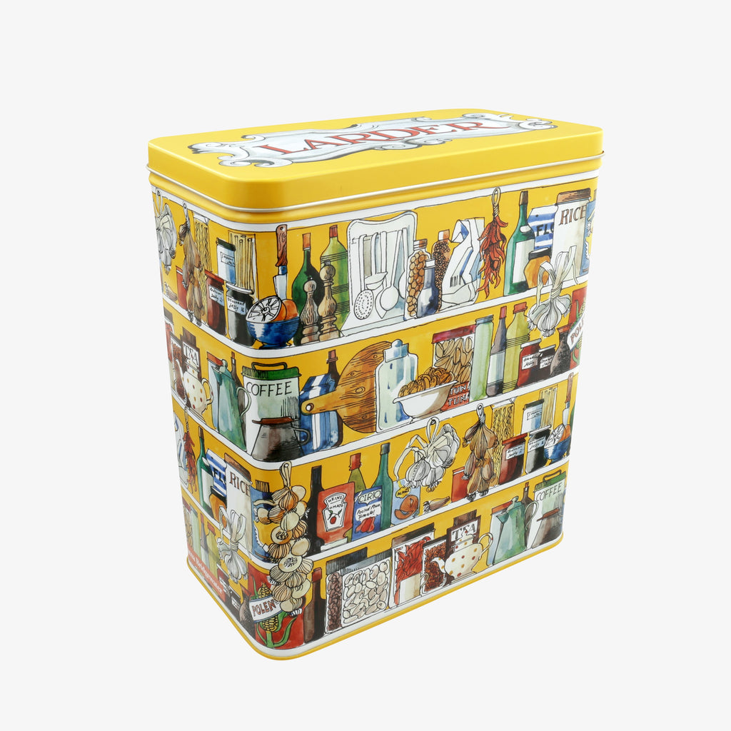 Setting Up Home Larder Shelves Tall Wide Rectangular Storage Tin