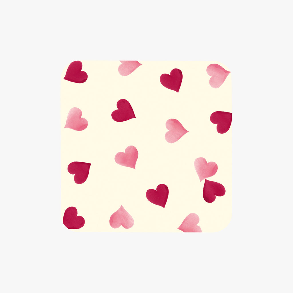 Pink Hearts Set of 4 Coasters