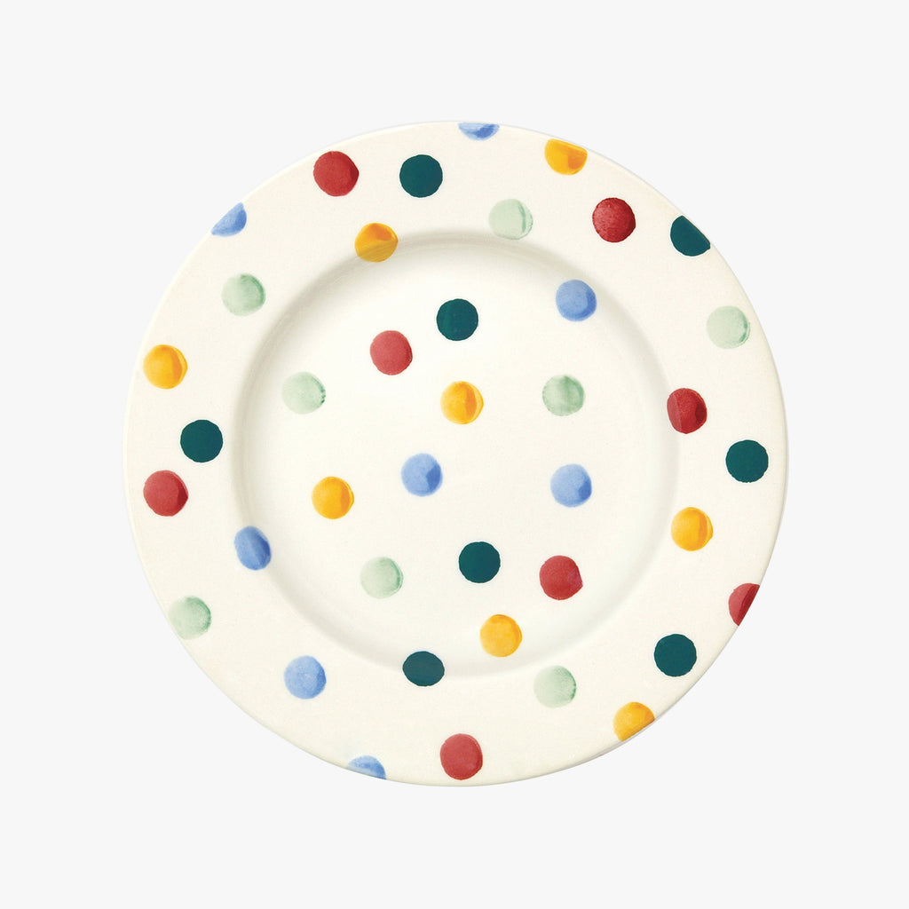 "Seconds Polka Dot 8 1/2"" Plate"