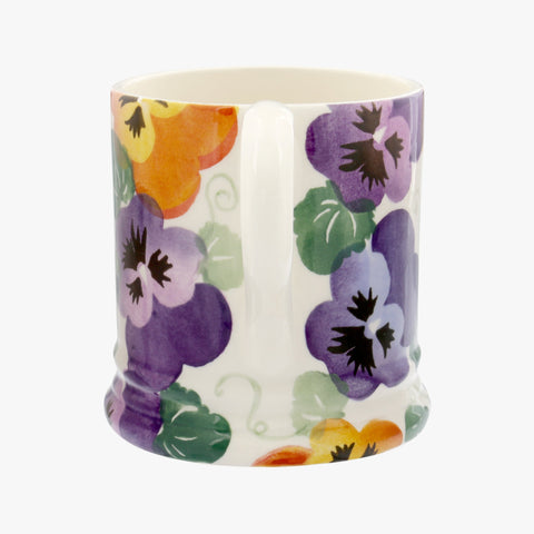 Purple Pansy 1/2 Pint Mug