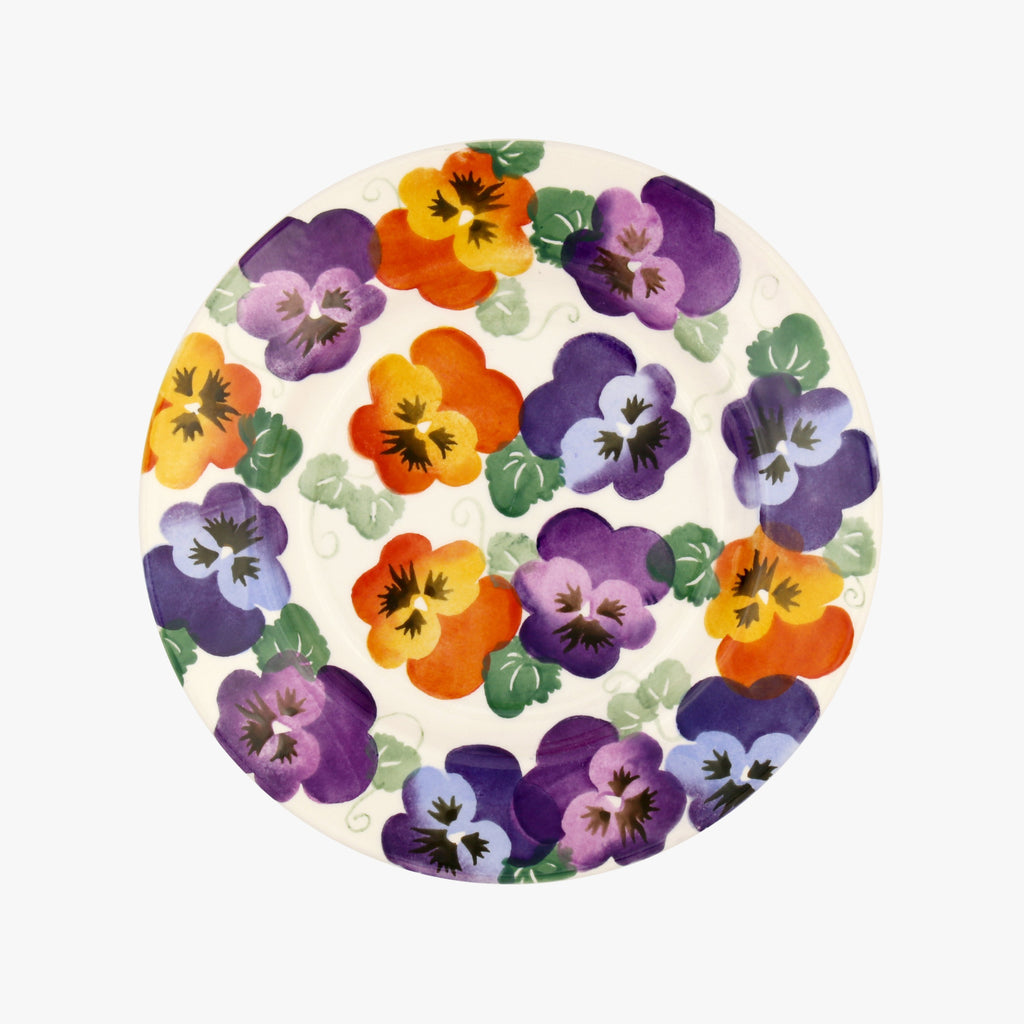 "Seconds Purple Pansy 8 1/2"" Plate"