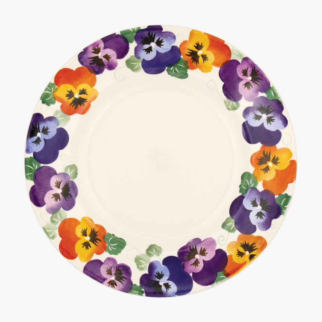 "Seconds Purple Pansy 10 1/2"" Plate"