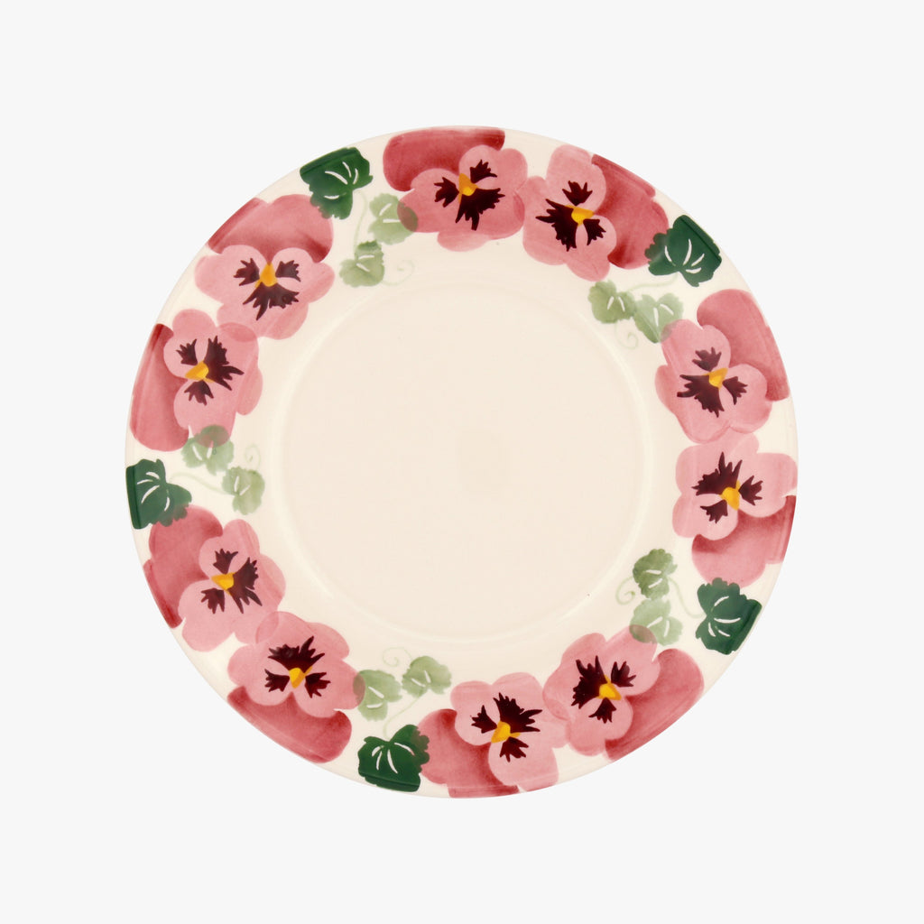 "Seconds Pink Pansy 8 1/2"" Plate"