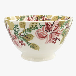 Stargazer Lilies Large Old Bowl