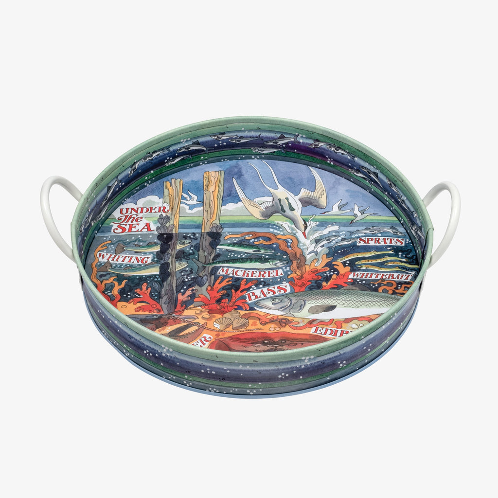 River & Shore Saltwater Large Handled Tin Tray