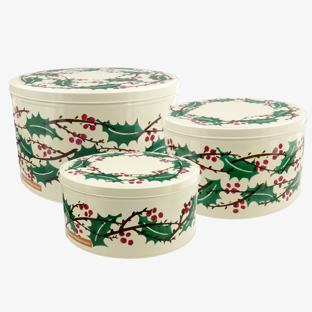 Winterberry Set of 3 Round Cake Tins