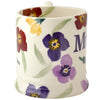 Seconds Purple Wallflower Mum 1/2 Pint Mug