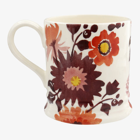 Personalised Bright Dahlias 1 Pint Mug