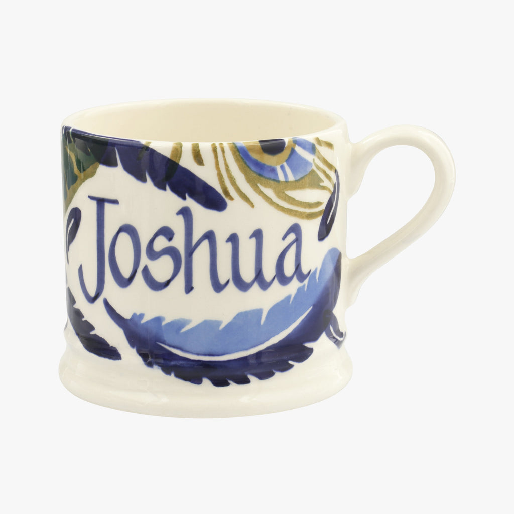 Personalised Feather Wreath Small Mug