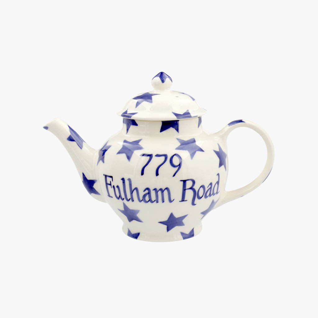 Personalised Blue Star 2 Mug Teapot