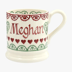 Personalised Christmas Sampler 1/2 Pint Mug