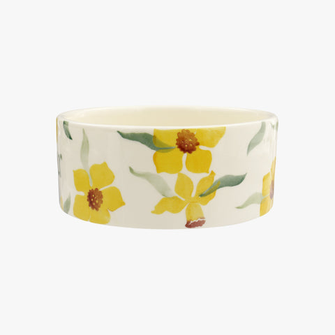 Personalised Daffodils Small Pet Bowl