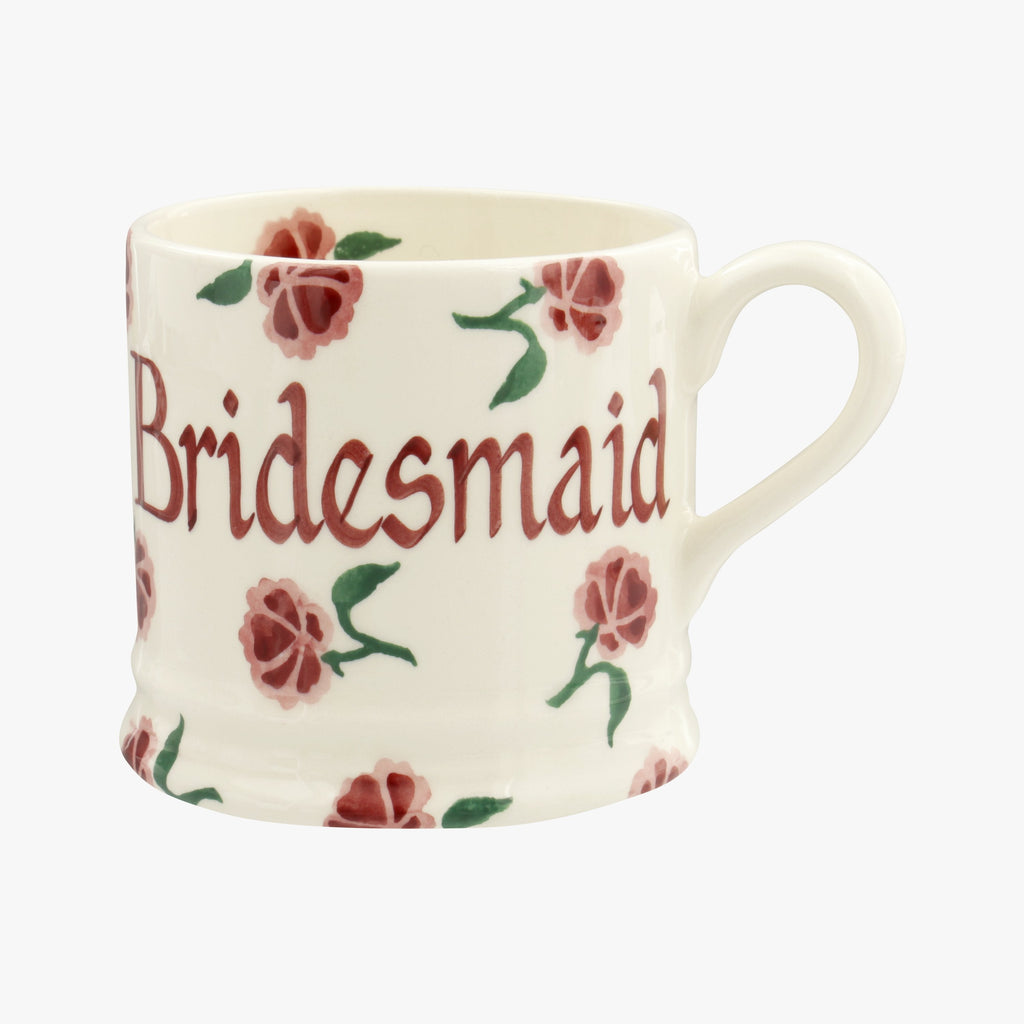 Personalised Little Pink Rose Small Mug