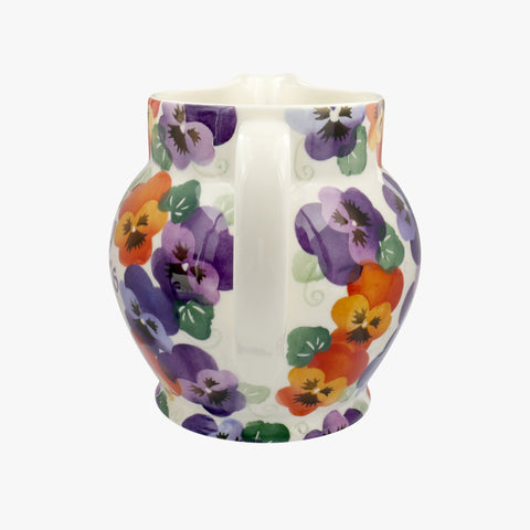 Personalised Purple Pansy 3 Pint Jug